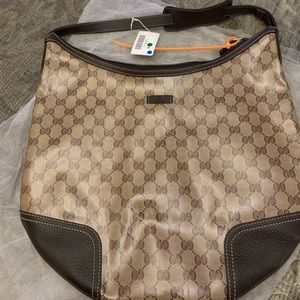 Authentic Gucci crystal hobo bag. I wore